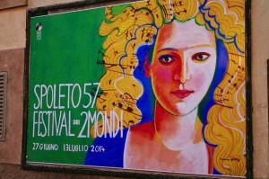 L'immagine ufficiale di Spoleto57. Opera della  pittrice armena-americana Maro Gorky (New York, 1943).
