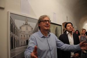"""Spoleto Arte"". Spoleto. Palazzo Leti-Sansi. Vittorio Sgarbi inaugura la mostra."