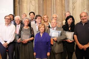 "Spoleto. Palazzo Leti-Sansi. ""Premio Margherita Hack"". La giuria ed i premiati."